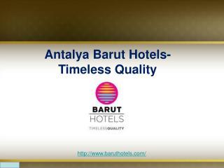 Antalya luxury hotels