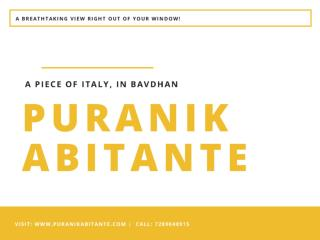 Puranik Abitante in Bavdhan Pune by Puranik Group