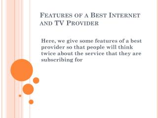 best internet and tv provider