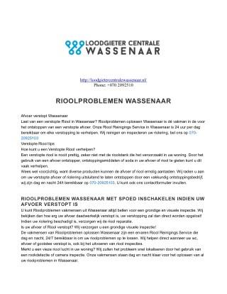 Loodgieter Centrale Wassenaar