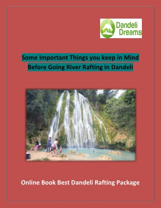 Some Important Things you keep in Mind Before Going River Rafting in Dandeli