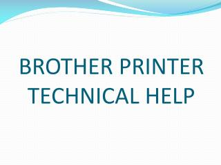 Technical Support for Brother Printers