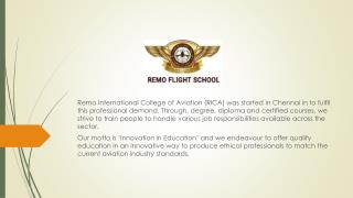 Pilot Training Job placements in Chennai | Remo