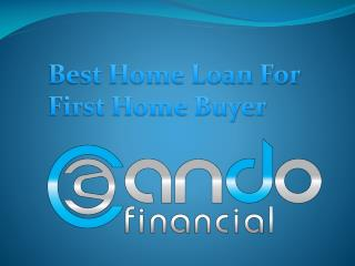 Best Home Loan For First Home Buyer