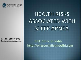 Health risks associated with sleep apnea