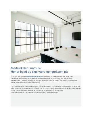 Husk dette når du søger mødelokaler i Århus!