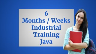 Learn Java - 6 Months / Weeks Industrial Training in Java