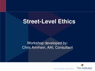 Street-Level Ethics
