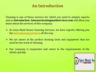 Most Reputed Company for in House Cleaning Services