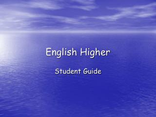 English Higher