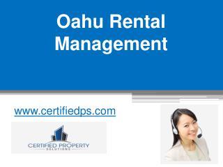 Oahu Rental Management - www.certifiedps.com