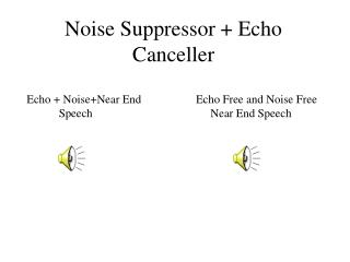 Noise Suppressor  Echo Canceller