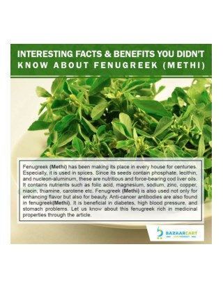 Interesting Facts & Benefits You Didn't Know About Fenugreek (Methi)