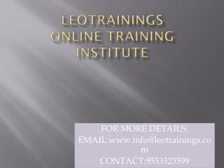 Informatica online training in hyderabad,usa,uk