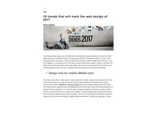 10 trends that will mark the web design of 2017