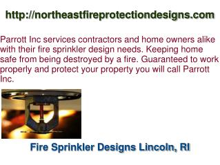 Fire Sprinkler Design Architect Lincoln, RI