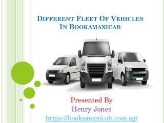 Different Fleet Of Vehicles In Bookamaxicab