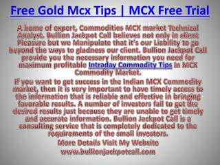 Commodity Tips Free Trial and Intraday Commodity Tips with high Profit