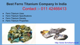 Ferro Titanium Lumps| Manufactures| Supplires| India