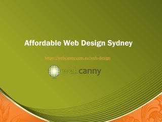 Cheap Website Design Sydney