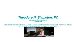 Bankruptcy Lawyer Atlanta GA – Chapter 7 & Chapter 11 Attorney