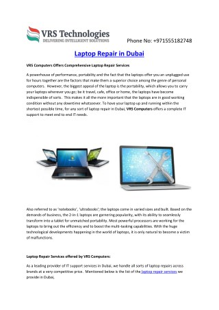 Dubai Computer Repair Services | Laptop Repair Service in Dubai