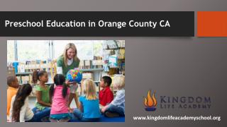 Preschool Education in Orange County CA