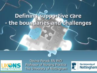 Defining supportive care  - the boundaries and challenges