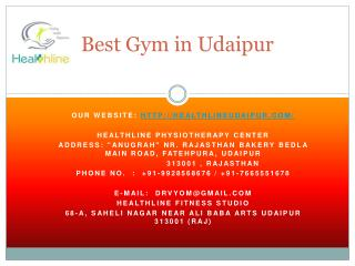 Best gym in udaipur
