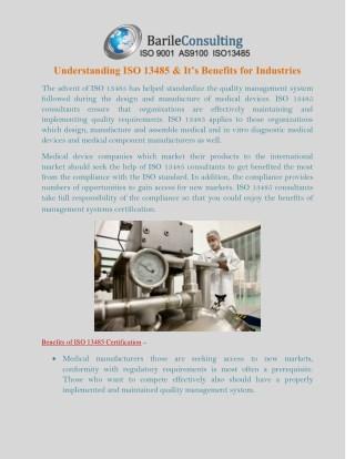 Understanding ISO 13485 & It's Benefits for Industries