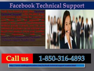 Facebook Technical Support 1-850-361-8504: The best shelter for Facebook users