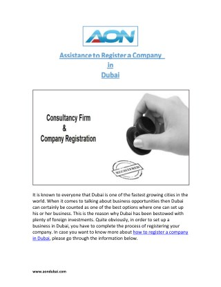 AON - Get Professional Assistance to Register a Company in Dubai