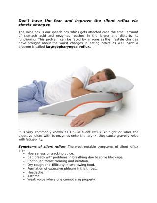 Natural Treatment laryngopharyngeal Silent Reflux
