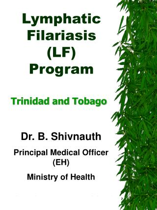 Lymphatic Filariasis  LF  Program