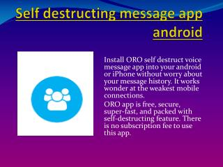 self destructing message app android