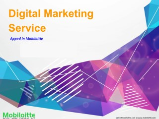 Digital Marketing Service - Mobiloitte