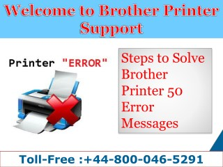 How to fix Brother Unable to Clean 50 Error| 44-800-046-5291