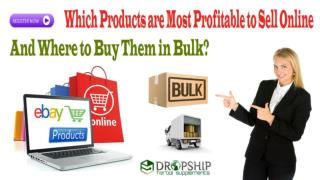 Which Products are Most Profitable to Sell Online and Where to Buy Them in Bulk?