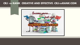 CRJ 100 RANK  Creative and Effective /crj100rank.com