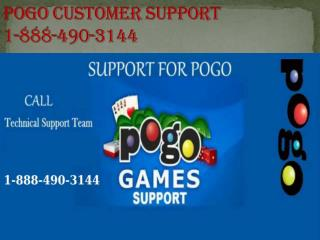 Pogo customer support  1-888-490-3144