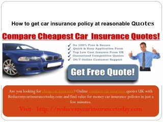 cheap car insurance -Online compare car insurance-Reducemycarinsurancetoday.com