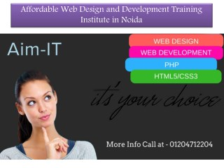 Best Web Design And Development Training Institute in Noida