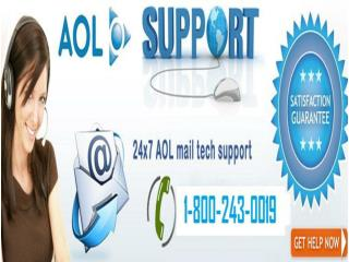 AOL Mail Support Number | 1-800-243-0019 for Help