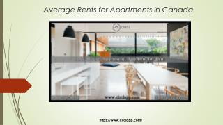 Average Rents for Apartments in Whitby and Guleph