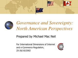 Governance and Sovereignty: North American Perspectives