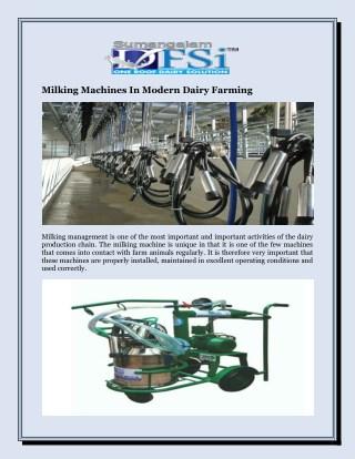 Milking Machines In Modern Dairy Farming