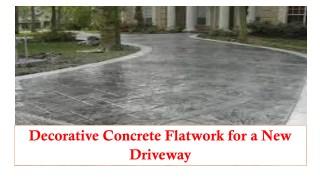 Decorative Concrete Flatwork for a New Driveway