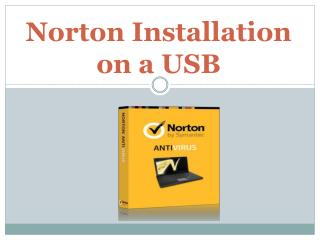 Norton Installation on a USB