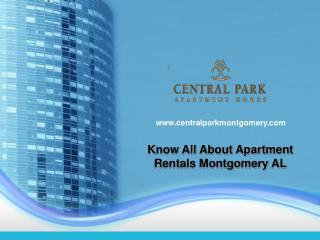 Things To Be Remember About Apartment Rentals Montgomery AL