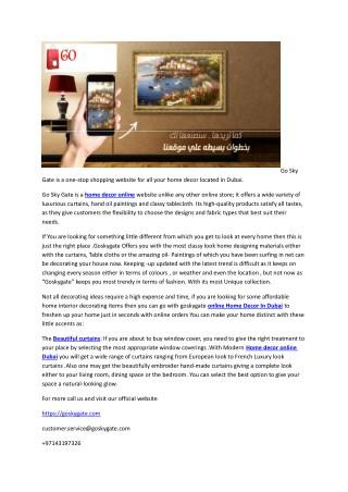 Go Sky Gate is a one-stop shopping website for all your home decor Dubai